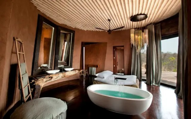 Traditional Bathrooms Luxury South African Villa With Cave-like Interiors | Digsdigs