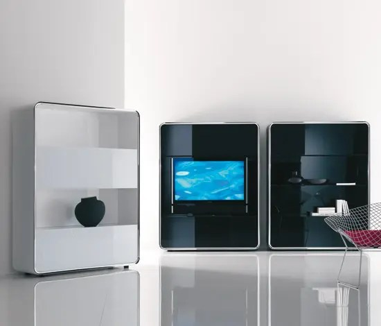 Open Shelving Units Ultra Contemporary Tv Cabinet - Lyneus Audiovideo From