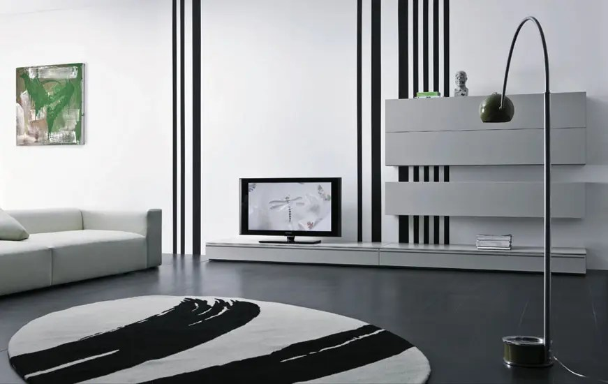 Modular Furniture Modern Lacquered Tv Cabinets - Spazio Box From Pianca