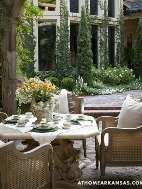 Rustic Furniture Amazing Old European Style Garden And Terrace Design