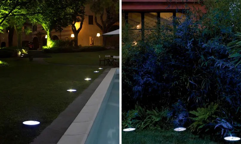 Spot Double Eclairage Exterieur Led Outdoor Lights - Pollicino From Antonangeli - Digsdigs