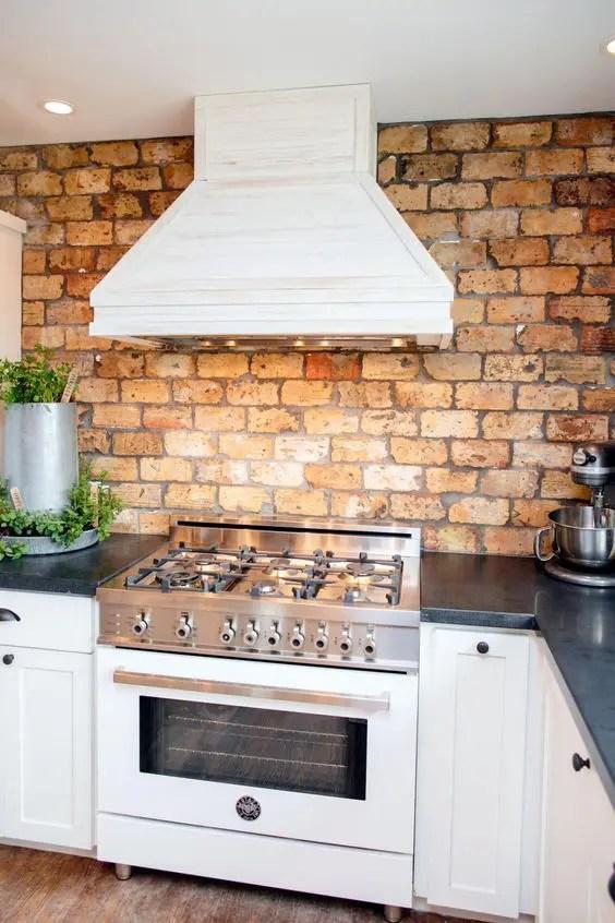 kitchen backsplashes super practical stylish brick kitchen interior design kitchen backsplashes belle maison short hills