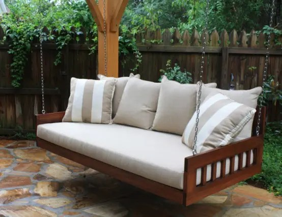 Daybed Holz 39 Relaxing Outdoor Hanging Beds For Your Home - Digsdigs