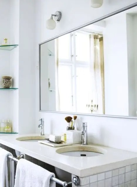 Big Mirror For Bedroom 50 Relaxing Scandinavian Bathroom Designs Digsdigs
