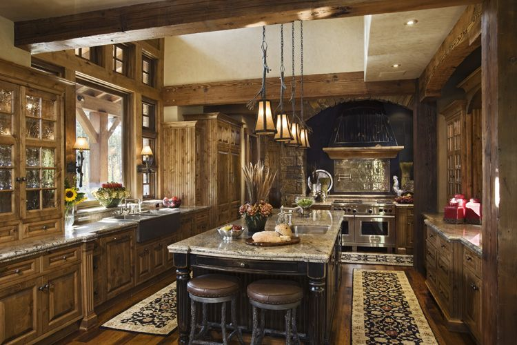 Plans For Building A Kitchen Island Rustic House Design In Western Style - Ontario Residence