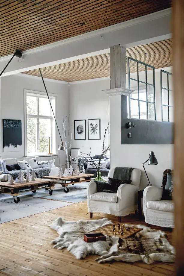Deco Salon Campagne Scandinavian Chic House With Rustic And Vintage Features