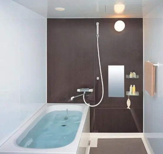 Kleines Badezimmer Mit Badewanne Compact And Small Bathroom Layouts From Inax - Digsdigs