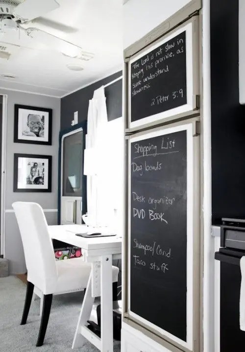 smart chalkboard home office é ideas digsdigs minimalistic smart home ideas pictures