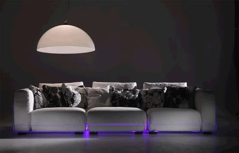 Cool Sofa Pillows Versatile Sofa With Built-in Mood Led Lights – Asami Light Sofa By Colico | Digsdigs