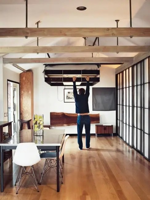 Parkett Modern 13 Space-saving Retractable Loft Beds - Digsdigs