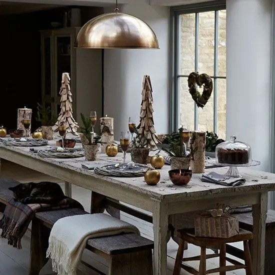 Ikea Dining Room Table 37 Stunning Christmas Dining Room Décor Ideas - Digsdigs
