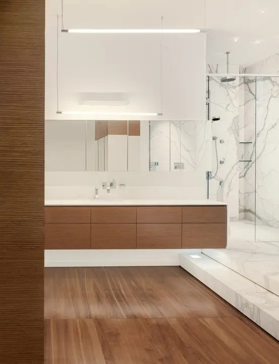 Bad Spiegelschrank 45 Stylish And Cozy Wooden Bathroom Designs - Digsdigs