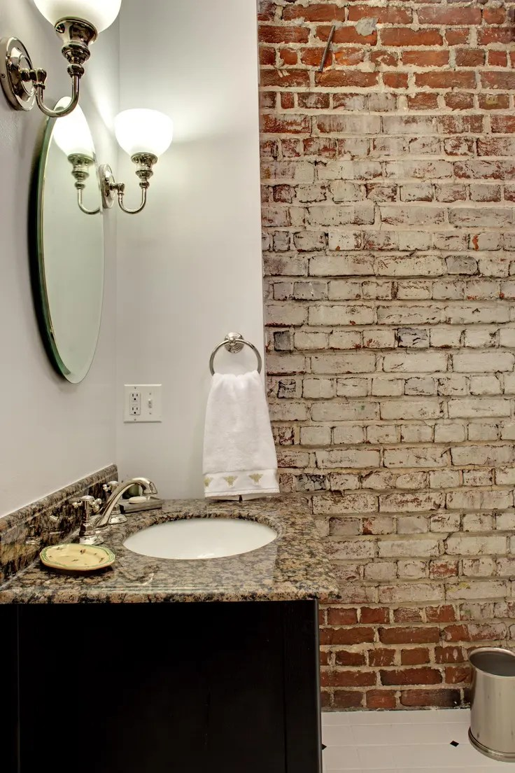 Design Dusche 39 Stylish Bathrooms With Brick Walls And Ceilings - Digsdigs