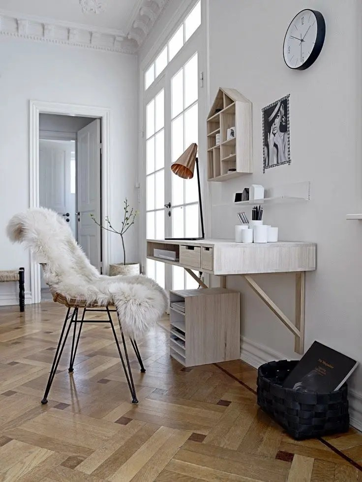 Sofa Klein 50 Stylish Scandinavian Home Office Designs | Digsdigs