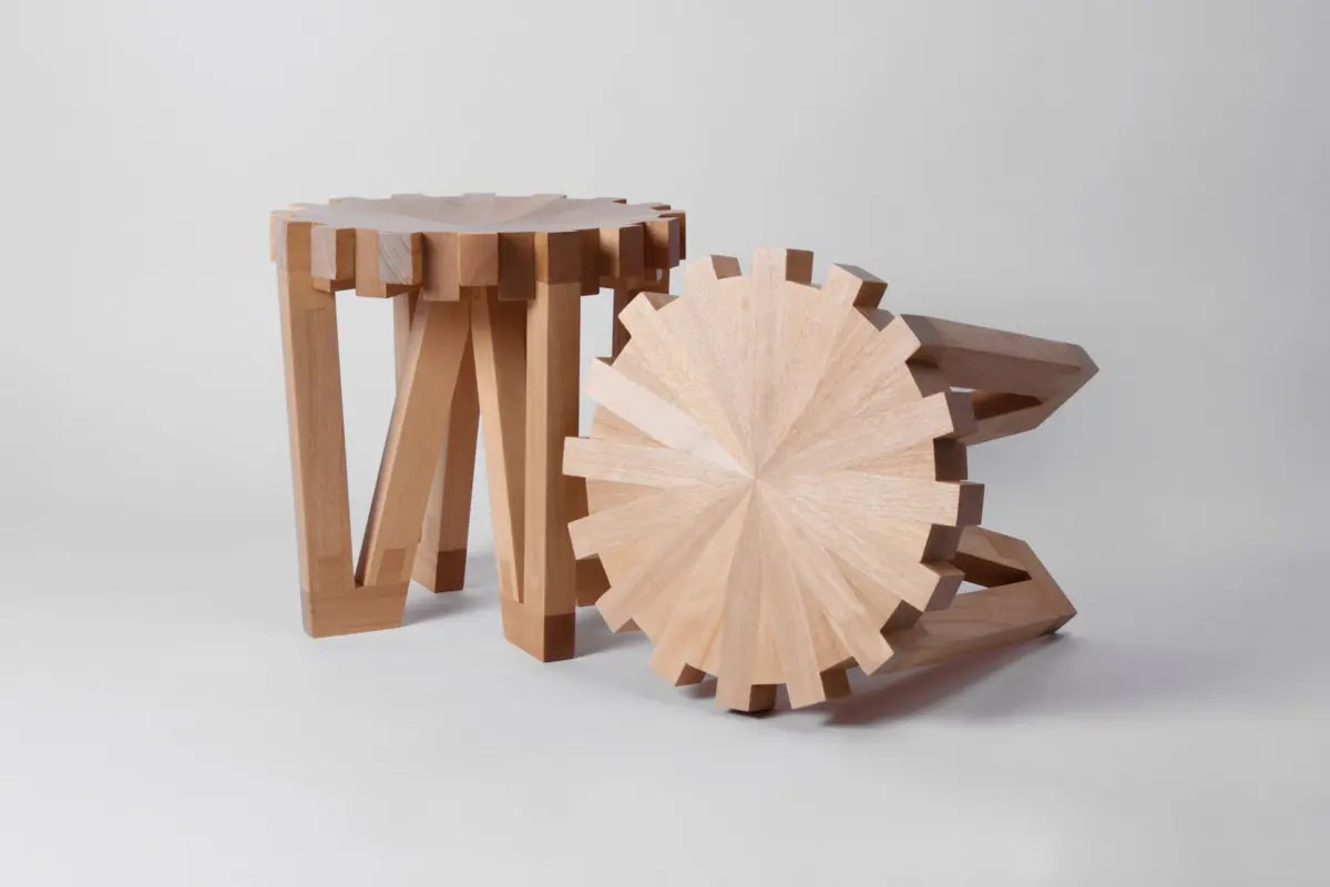 Unusual Wooden Chairs Unique Calibre 32 Stools Inspired By Horology