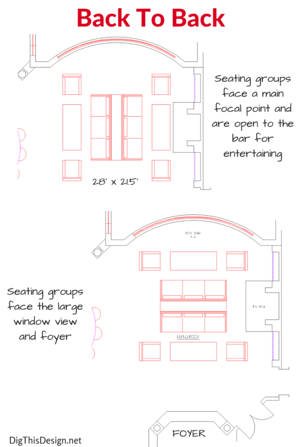Plans For Entertaining Furniture Layouts For A Large