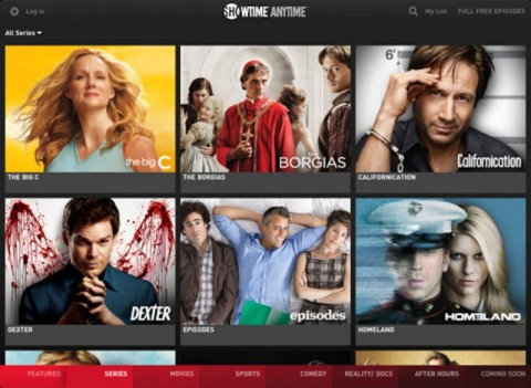 Showtime Anytime iPad App
