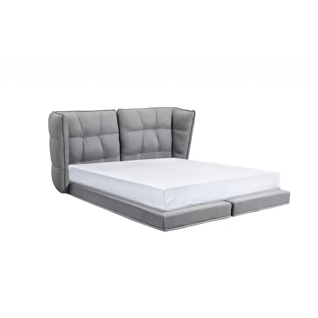 Lit Double 160 Double Bed Cannes Fabric Bed Frame High Quality Diiiz