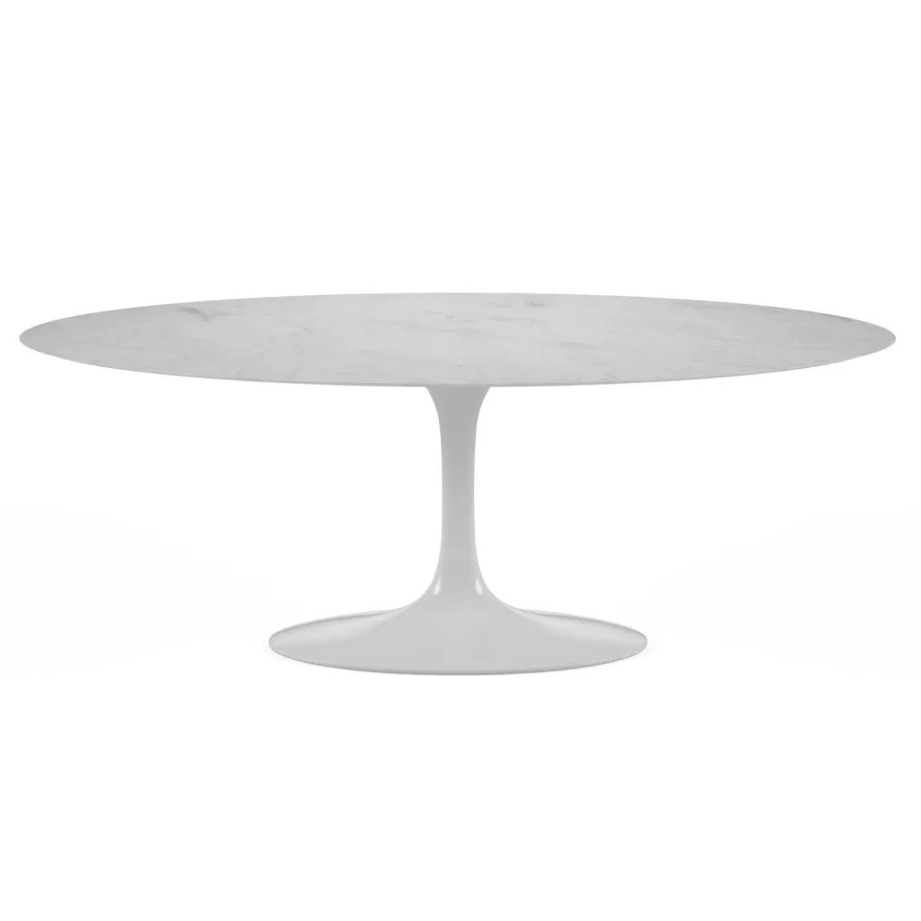 Table Knoll Tulipe Oval Tulip Table Marble Knoll Replica Eero Saarinen Diiiz