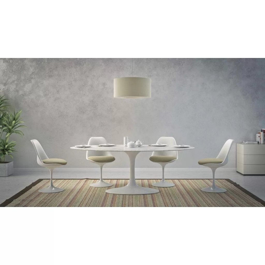 Table Ovale Knoll Oval Tulip Table Marble Knoll Replica Eero Saarinen