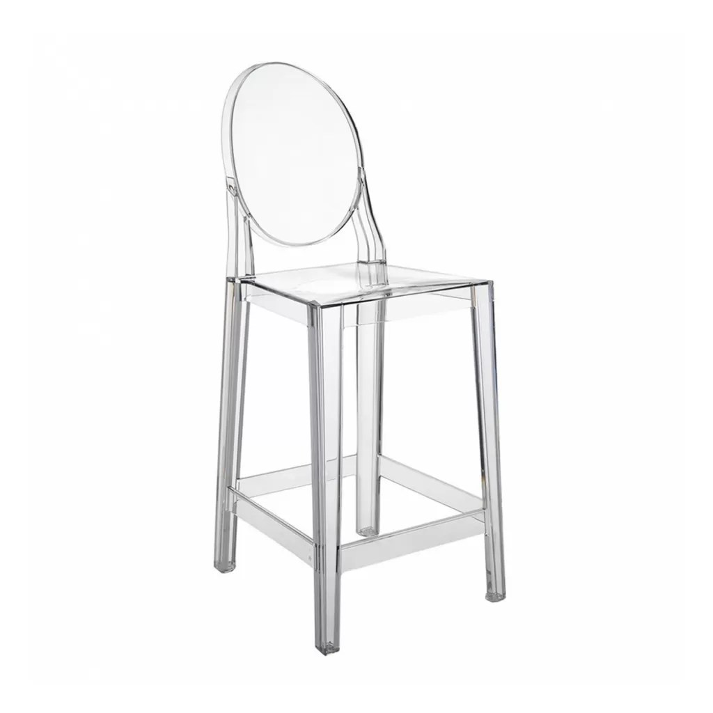 Tabourets Ghost Tabouret De Bar One More Kartell Crystal Replique Diiiz