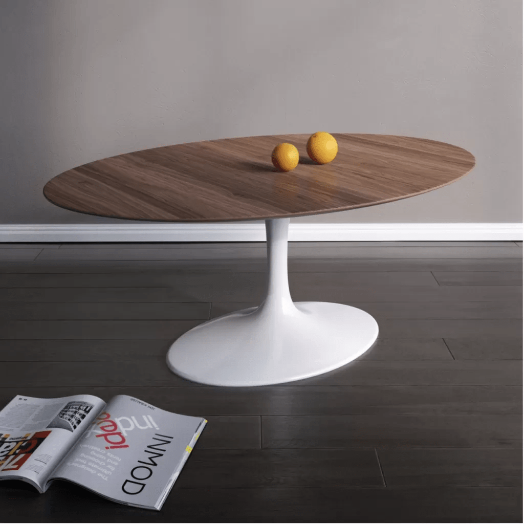 Table Knoll Tulipe Knoll Oval Coffee Table Tulip Eero Saarinen Reproduction Diiiz