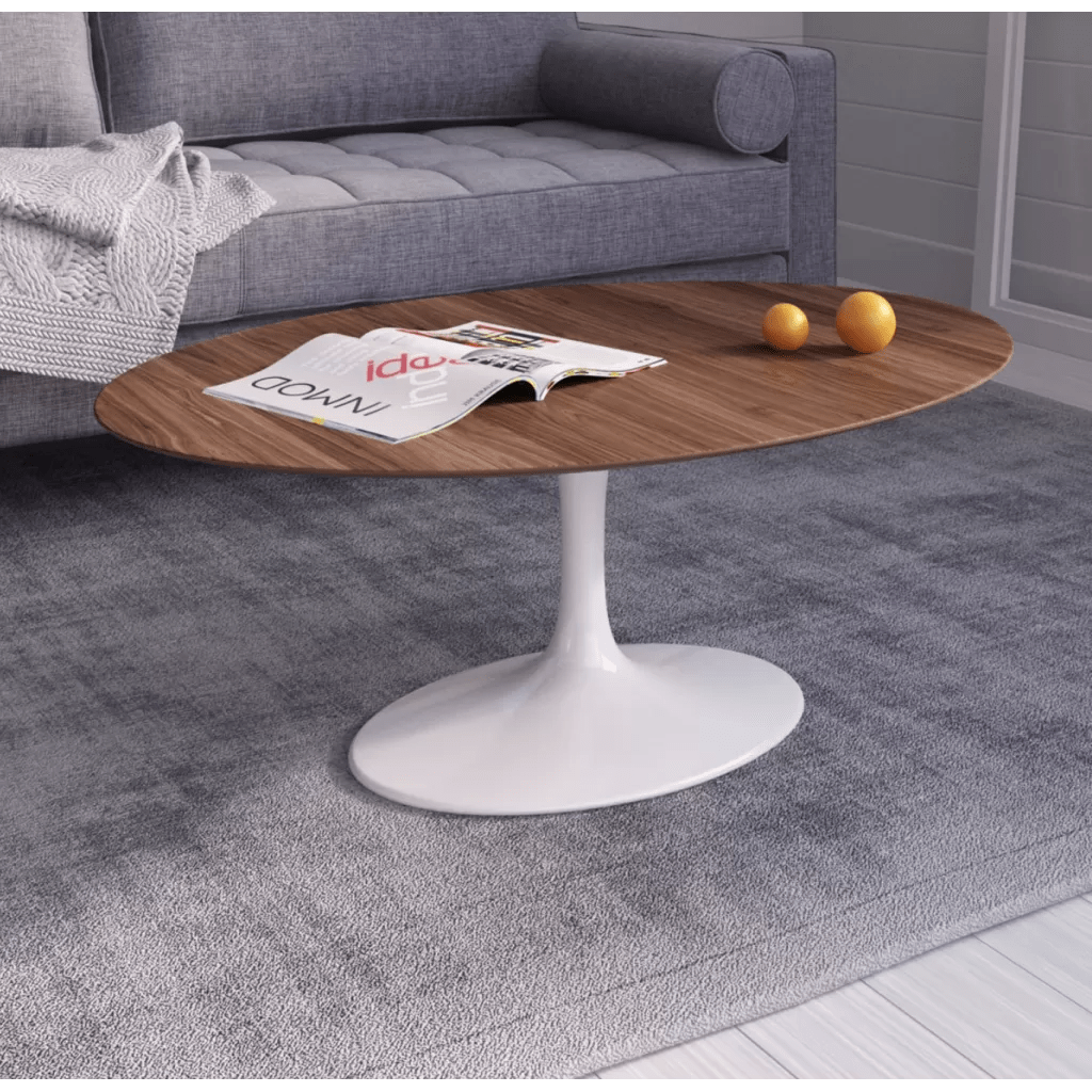 Table Ovale Tulipe Knoll Oval Coffee Table Tulip Reproductie Eero Saarinen