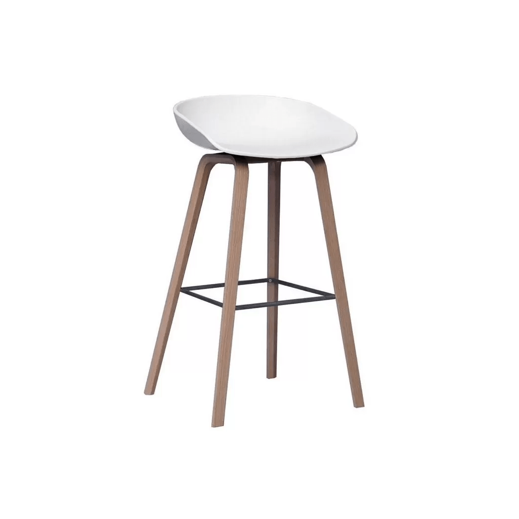 Tabouret De Bar Plastique Transparent Chaise De Bar Hay About A Stool Aas32 Plastique Et Bois Diiiz