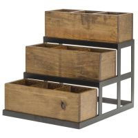 Expressly HUBERT Reclaimed Wood Collection 3 Bin Condiment ...