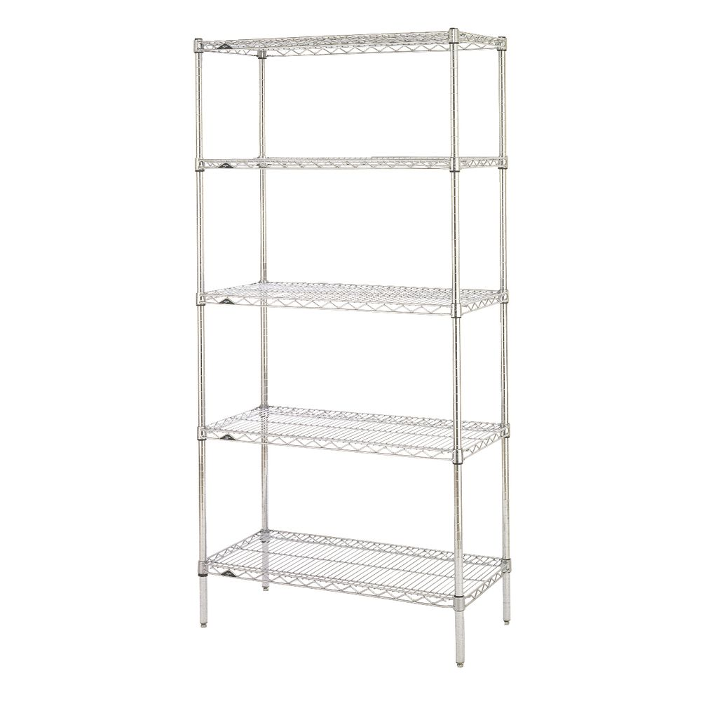 Metal Shelving Metro Super Erecta 5 Shelf Chrome Plated Metal Shelving Unit 36