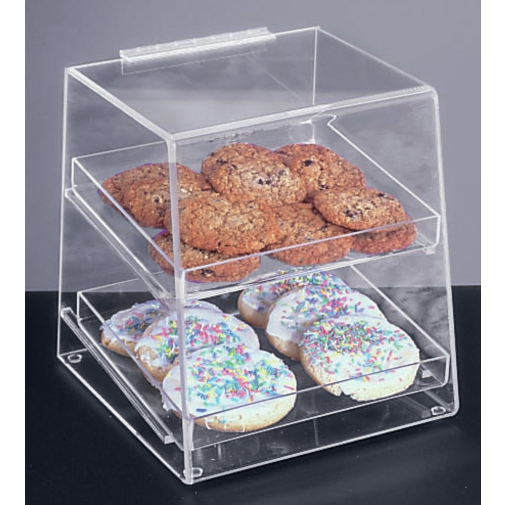 Countertop Food Display Case Cal Mil Square Attendant Serve Acrylic Countertop Bakery Display Case 10