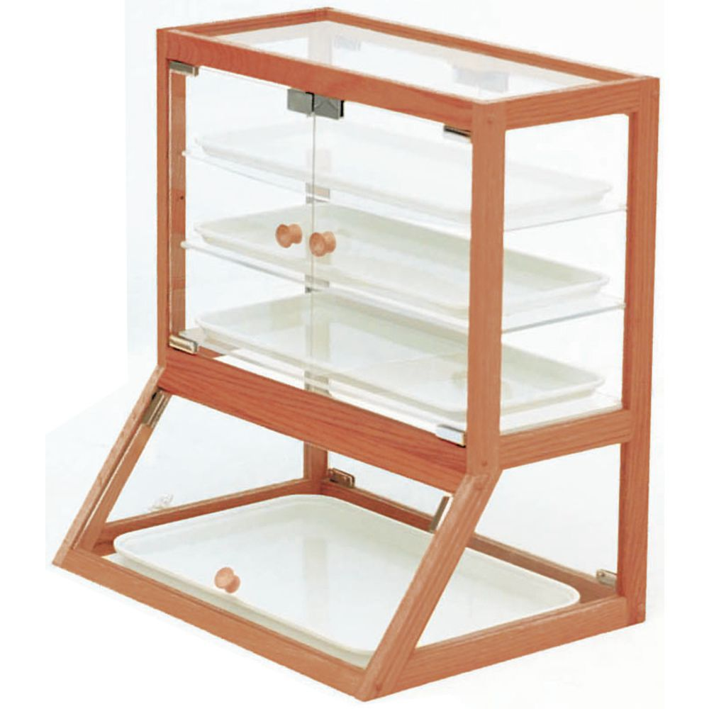 Countertop Food Display Case Expressly Hubertfront And Rear Style Oak Wood Countertop Bakery Display Case 20 4