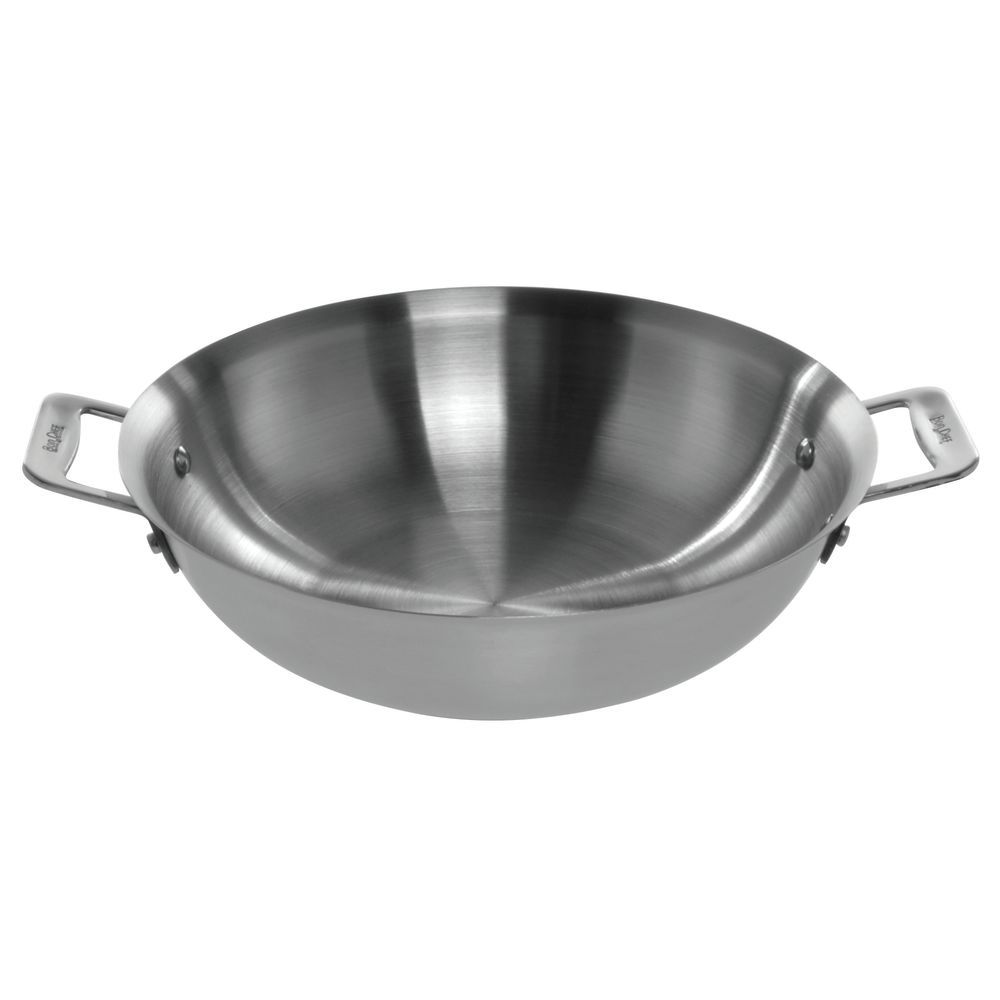 Cucina Wok Bon Chef Cucina Handled Pan Collection 2 1 2 Qt Stainless Steel Stir Fry Pan 12