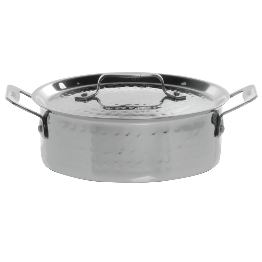 Qucina Bakeware Bon Chef Cucina 3 Qt Hammered Stainless Steel Casserole Dish With Lid 11 7 16