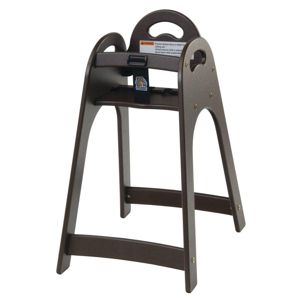 Designer High Chair Koala Kare Brown Plastic Designer High Chair 16 3 4