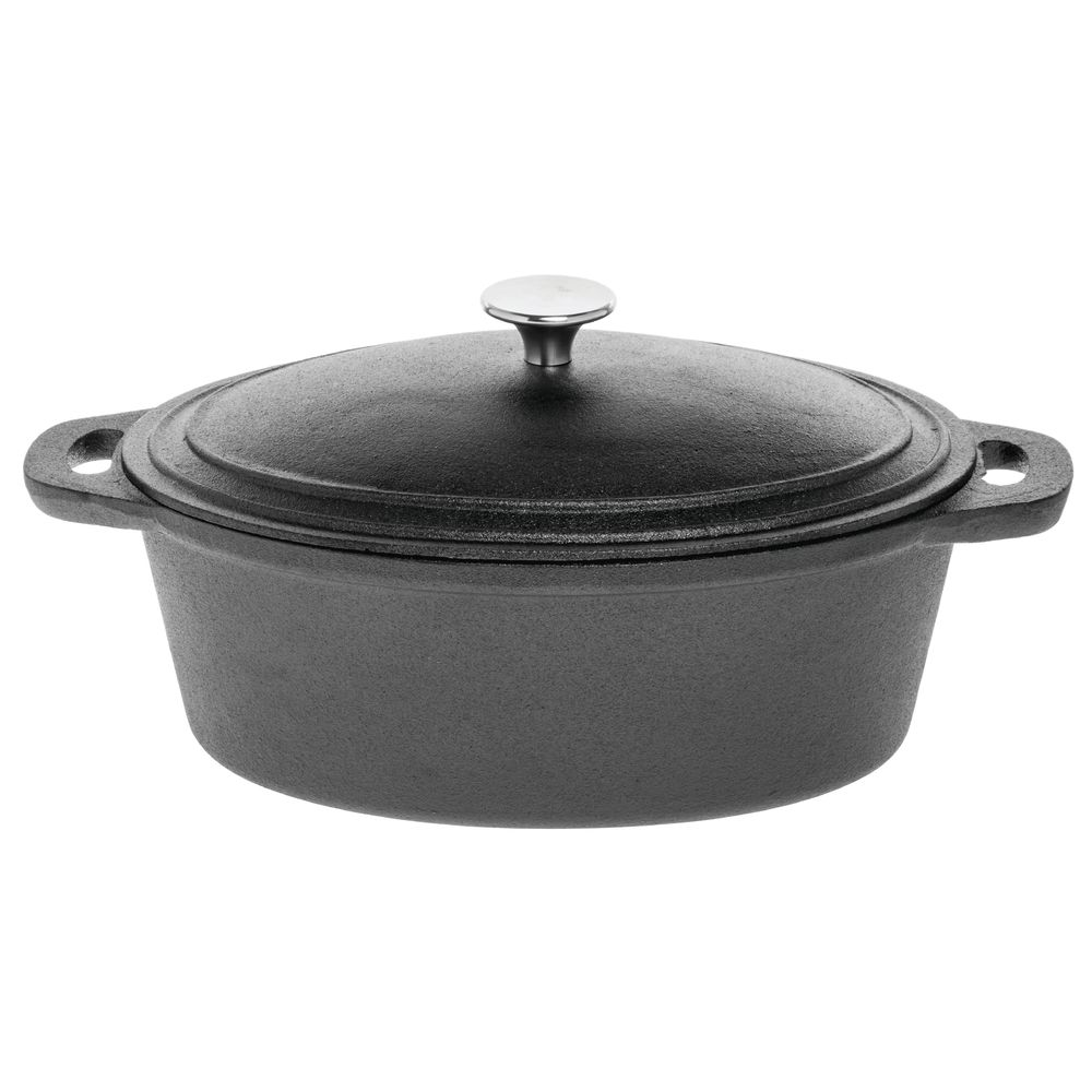 Cast Iron Casserole Dish American Metalcraft 128 Oz Oval Cast Iron Casserole Pan 14
