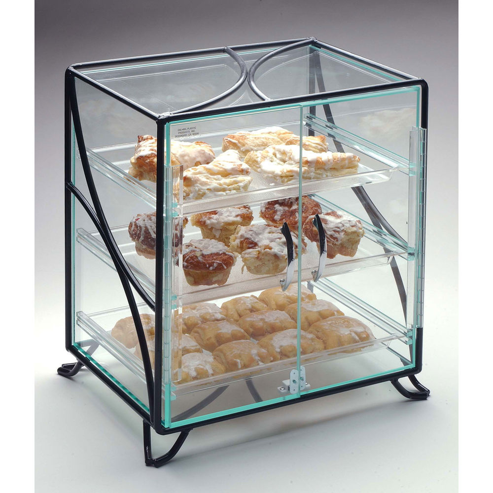 Countertop Food Display Case Cal Mil 3 Shelf Black Metal And Acrylic Countertop Bakery Display Case 16