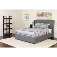 Flash Furniture Full Platform Bed Set-Lt Gray