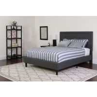 Flash Furniture Twin Platform Bed Set-Gray