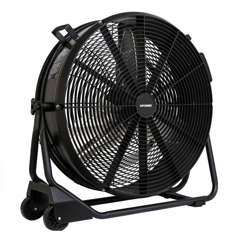 Garage Workshop Fan Xpower Fd 650dc 1 2 Hp 9500 Cfm 1 8 Amps Sealed Motor High Velocity 24 Drum Fan 1 8amps 115volts Watts