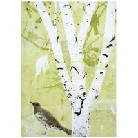 Birch Tree Canvas Wall Art, 32 x 46