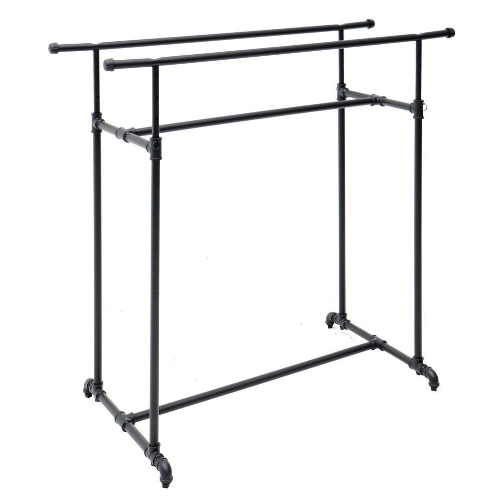 Industrial Clothing Rack Double Bar High Capacity Clothing Rack