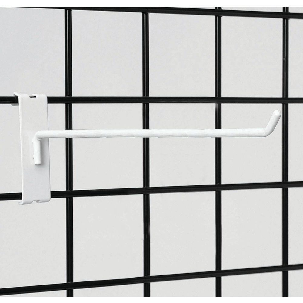Wall Grid White Wire Grid Wall Hooks 12