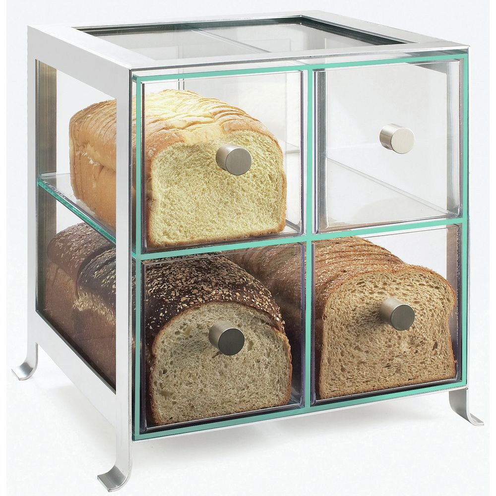 Countertop Food Display Case Cal Mil Soho Acrylic Countertop Display Case In Silver With 4 Compartments