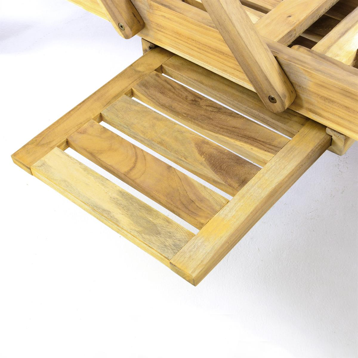 Genial Divero Sonnenliege Garten Relax Liege Teak Holz Inkl Räder