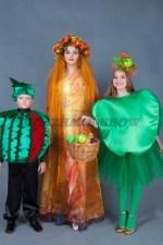 5618. Костюмы для семейной фотосессии. Принцесса Осень. Яблоко. Арбуз.