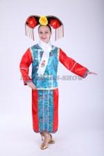 33581. Китайский костюм красно-голубой