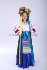 4257. Украинский народный костюм для девочки