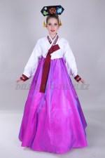 Подростковый корейский костюм ханбок фиолетовый