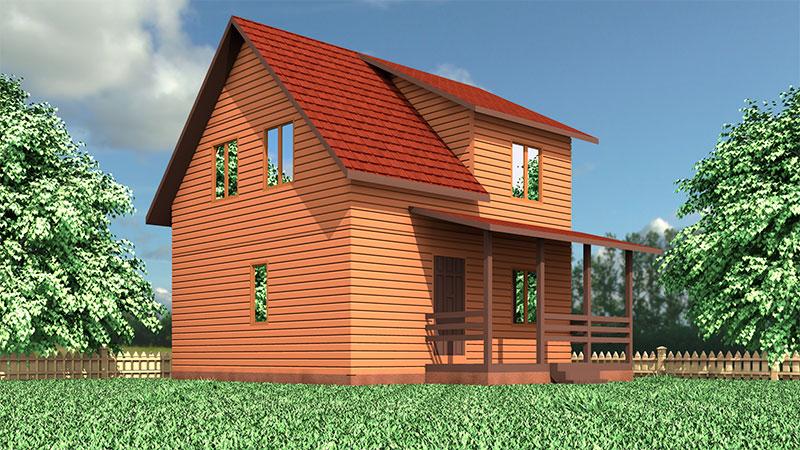 проект каркасно-щитового дома, цена: 364 000 р.